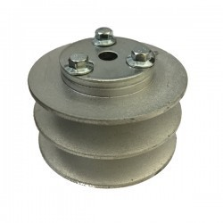 POLEA MOTOR 2 CANALES SERIE B, DIAM EXT. 76 MM, EJE CHAVETA 20 MM , MZT-850