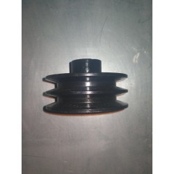 POLEA 4T METAL DIA EXT 90 MM DIA INT 20 MM 2 CANALES